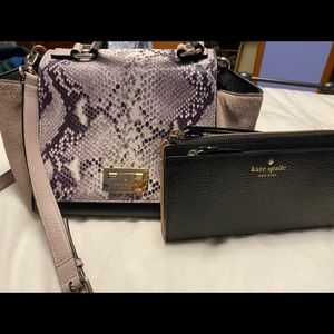 Kate Spade Cross Body Purse w/ wristlet wallet